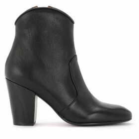 Chie Mihara Texan Ankle Boot In Black Leather