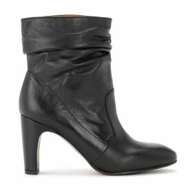 Chie Mihara Evil Ankle Boot In Black Suede Leather
