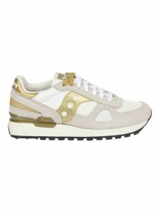 Saucony White And Gold Shadow Sneakers