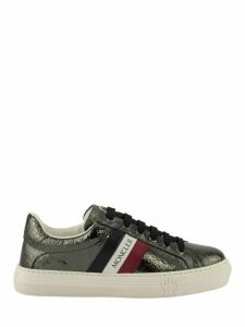 Moncler Ariel Sneakers Charcoal Grey Laminated Leather