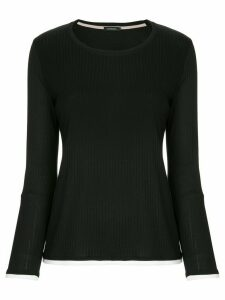 Loveless ribbed long sleeve T-shirt - Black