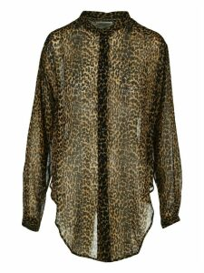 Saint Laurent Leopard Print Shirt