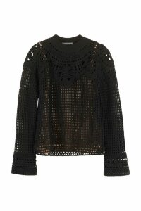 Alberta Ferretti Merino Wool Crew-neck Sweater