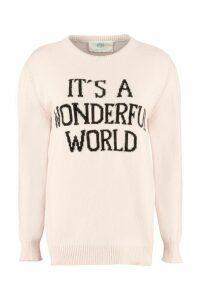 Alberta Ferretti Love Me Cashmere Pullover With Intarsia