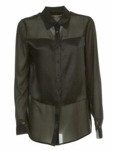 MICHAEL Michael Kors Combo Sateen Shirt L/s Viscose