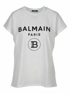 Balmain Glittered Logo Print T-shirt