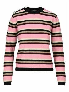 Ganni Cashmere Knit Multicolor Pullover