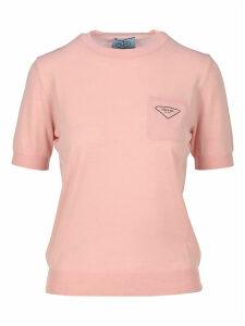 Prada Short-sleeve Knitted Top