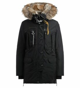 Parajumpers Parka Model Kodiak In Black Oxford Nylon Padded With Down