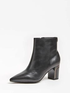 Guess Blondie Real Leather Ankle Boots