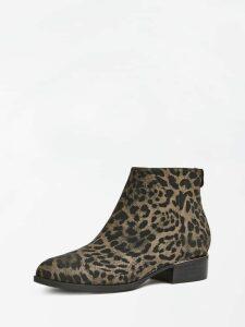 Guess Verneta Animal-Print Low Boots