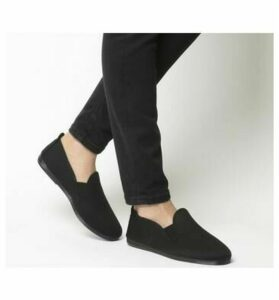 Flossy Elastic Pumps BLACK MONO CANVAS