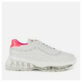 Bronx Women's Bubbly Running Style Trainers - White/Neon Pink - UK 8