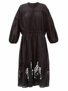 Love Binetti - Esperanza Crochet-lace Voile Dress - Womens - Black