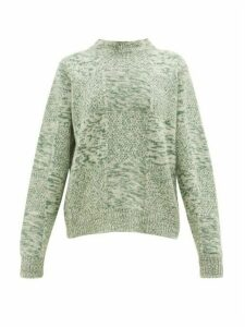 Jil Sander - Mélange Cashmere Sweater - Womens - Green Multi