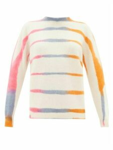 The Elder Statesman - Tie-dye Cashmere Sweater - Womens - Ivory Multi