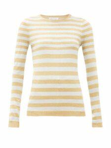 Bella Freud - Striped Metallic Sweater - Womens - Silver Gold