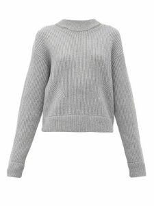 Proenza Schouler Pswl - Ribbed Wool Sweater - Womens - Grey