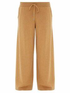 Johnston's Of Elgin - Colette Wide-leg Cashmere Trousers - Womens - Camel