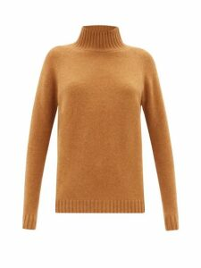 The Elder Statesman - Highland High-neck Cashmere Sweater - Womens - Camel