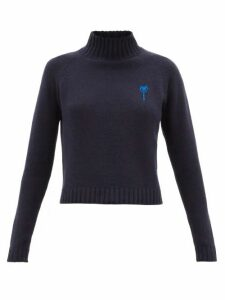 The Elder Statesman - Highland Cropped Cashmere Sweater - Womens - Blue