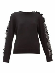 Bella Freud - Lady Day Sequinned Wool Sweater - Womens - Black