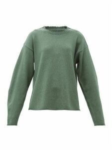 Maison Margiela - Raw-edge Wool-blend Sweater - Womens - Green