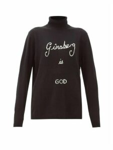 Bella Freud - Ginsberg Is God Cashmere Roll-neck Sweater - Womens - Black