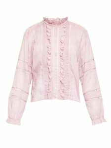 Isabel Marant Étoile - Valda Ruffled Cotton-voile Blouse - Womens - Pink