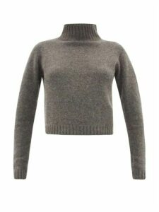 The Elder Statesman - Highland Cropped Cashmere Sweater - Womens - Grey