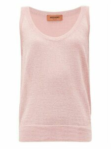 Missoni - Metallic-knit Tank Top - Womens - Pink