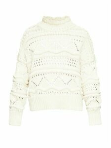Isabel Marant Étoile - Naka High-neck Cable-knit Sweater - Womens - Ivory