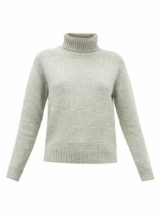 Nili Lotan - William Wool-blend Roll-neck Sweater - Womens - Grey