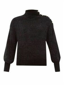 Staud - Paloma Faux-pearl High-neck Chenille Sweater - Womens - Black