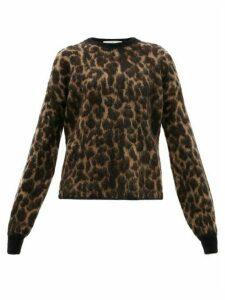 Golden Goose - Leopard-jacquard Mohair Sweater - Womens - Leopard