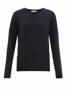 Jil Sander - V-neck Cashmere Sweater - Womens - Navy