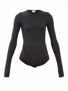 Maison Margiela - Long-sleeved Stretch-jersey Bodysuit - Womens - Black
