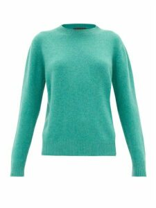 The Elder Statesman - Simple Round-neck Cashmere Sweater - Womens - Green