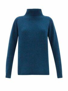 The Elder Statesman - Highland High-neck Cashmere Sweater - Womens - Dark Green
