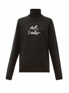Bella Freud - Art Dealer Roll-neck Cashmere Sweater - Womens - Black