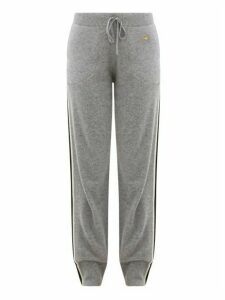 Bella Freud - Suzuka Side-stripe Cashmere-blend Track Pants - Womens - Grey