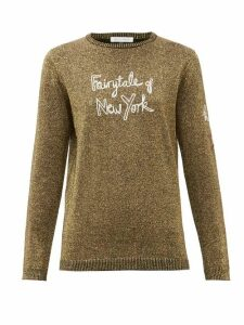 Bella Freud - Fairytale Of New York Wool-blend Metallic Sweater - Womens - Gold
