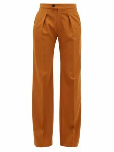 Chloé - High-rise Wide-leg Wool-blend Trousers - Womens - Camel