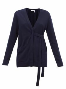 Chloé - V-neck Cashmere Cardigan - Womens - Navy