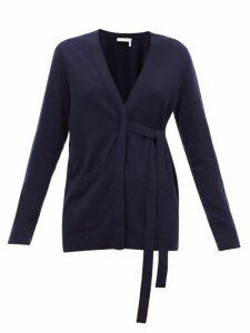 Chloé - V-neck Cashmere Cardigan - Womens - Navy