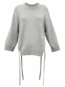 Chloé - Iconic Monogram Tie-strap Cashmere Sweater - Womens - Grey