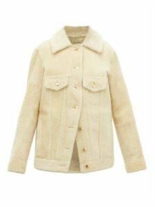 Chloé - Cropped Shearling Jacket - Womens - Cream