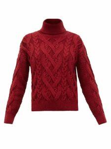 Nili Lotan - Wooster Roll-neck Merino Wool Sweater - Womens - Burgundy