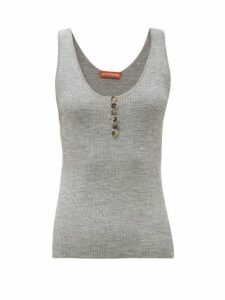 Altuzarra - Flack Wool-blend Tank Top - Womens - Grey