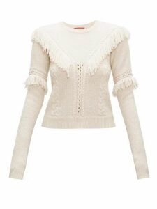 Altuzarra - Buckeye Fringed Cable-knit Sweater - Womens - Ivory